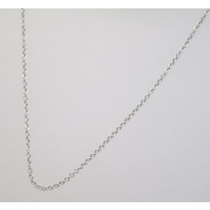 イタリア製 K18ホワイトゴールドチェーン ネックレス 最長45cmフリーサイズ 4684F09W|yosii-bungu