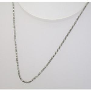 イタリア製 K18ホワイトゴールドチェーン ネックレス 最長45cmフリーサイズ 4684F78W|yosii-bungu
