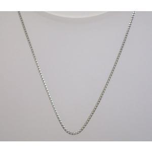 イタリア製 K18ホワイトゴールドチェーン ネックレス 最長45cmフリーサイズ 4684F81W|yosii-bungu
