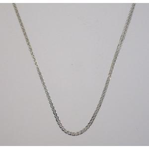 イタリア製 K18ホワイトゴールドチェーン ネックレス 最長45cmフリーサイズ 4684F82W|yosii-bungu