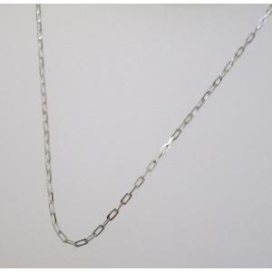 イタリア製 K18ホワイトゴールドチェーン ネックレス 最長45cmフリーサイズ 4684F87W|yosii-bungu