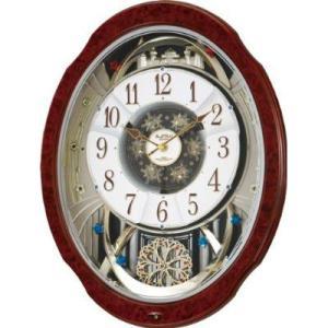 (今ならポイント最大32倍!)リズム RHYTHM スモールワールドブルームDX 電波からくり時計  4MN499RH23|yosii-bungu