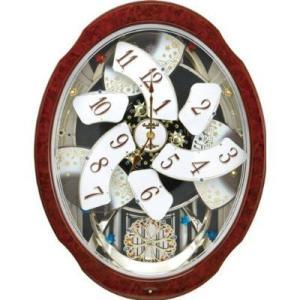 (今ならポイント最大32倍!)リズム RHYTHM スモールワールドブルームDX 電波からくり時計  4MN499RH23|yosii-bungu|02