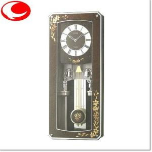 RHYTHM プライムメネット 電波からくり時計(正時メロディ付) 4MN518RH06|yosii-bungu