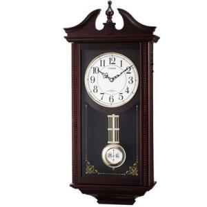 リズム ルイスデールR 飾り振り子付き 電波掛け時計 報時時計 4MNA02RH06 yosii-bungu