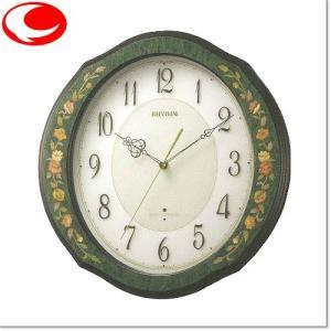 RHYTHM リズム  緑象嵌仕上(緑)RHG-M89 電波掛時計4MY748HG05|yosii-bungu