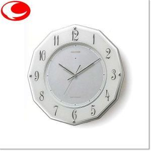 RHYTHM シルバーメタリック色 RHG-E002 ソーラー電源電波掛時計 4MY780HG19 yosii-bungu