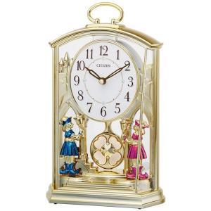 シチズン (CITIZEN) 置き時計 ファンタジーランド796 スワロフスキー・エレメント飾り付き 4RP796-018|yosii-bungu