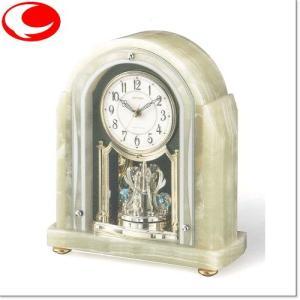 (今ならポイント最大37倍!)RHYTHM ライトグリーン RHG-S54(白パール色)電波置時計4RY692HG05|yosii-bungu