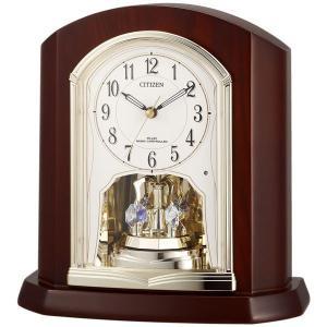 リズム  (RHYTHM) 木枠 電波置き時計 パルロワイエR702SR  4RY702SR06|yosii-bungu