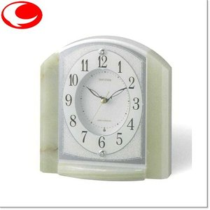 (今ならポイント最大37倍!)RHYTHM ライトグリーン RHG-S71(白パール色)電波置時計4RY703HG05|yosii-bungu