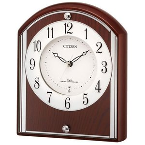 リズム (RHYTHM) 木枠 電波置き時計 パルロワイエR704SR 4RY704SR06|yosii-bungu