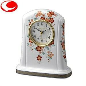 (今ならポイント最大37倍!)RHYTHM リズム 置き時計 桜絵(さくらえ)415 白色 4SE415HG01|yosii-bungu