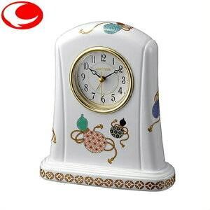 (今ならポイント最大37倍!)RHYTHM ハイグレード リズム 置き時計 瓢絵(ひょうえ)415 白色 4SE415HG04|yosii-bungu