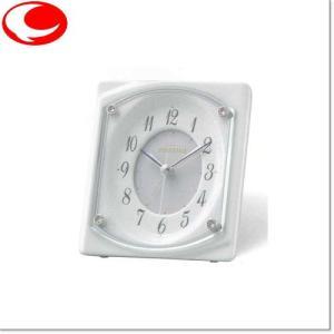 (今ならポイント最大37倍!)RHYTHM 白 RHG-S73(白)クオーツ置時計(めざまし機能付)4SE544HG03|yosii-bungu