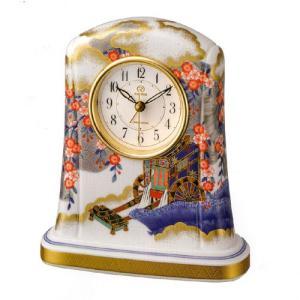 香蘭社・リズム時計共同開発 御所車の図554 有田焼 RHYTHM 4SE554HG04|yosii-bungu