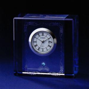 シチズン (CITIZEN) 置き時計 クリスタルデューR10  スワロフスキー・エレメント飾り付き 4SGA10-003|yosii-bungu