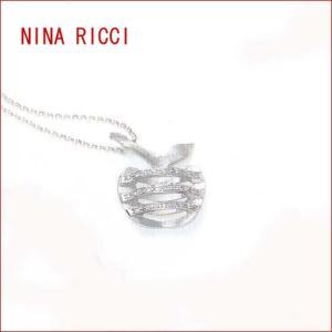 NINA RICCI  フィーユ ティーヴ ホワイトゴールド・ダイヤモンドネックレス (全国送料無料)|yosii-bungu