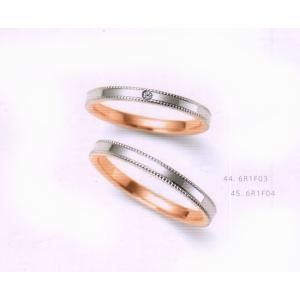 (今ならポイント最大37倍!)ニナリッチ マリッジリング ダイヤモンド入り [結婚指輪] (上側)  6R1F03|yosii-bungu