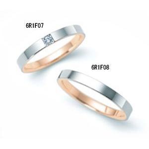 (今ならポイント最大37倍!)ペアリング(2本分 ) ニナリッチ  マリッジリング [結婚指輪]  6R1F07 -6R1F08 (ペア特別価格)|yosii-bungu