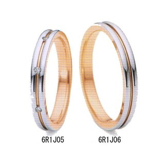 (今ならポイント最大37倍!)NINA RICCI ニナリッチ  マリッジリング  [結婚指輪] ダイヤ入り 6R1J05 左側|yosii-bungu