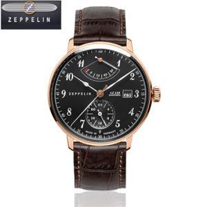ZEPPELIN ツェッペリン LZ129 HINDENBURG ヒンデンブルク ドイツ製 腕時計 70642 メンズ ブラック文字盤(自動巻)|yosii-bungu