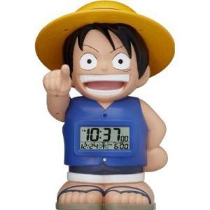シチズン リズム時計     麦わらのルフィ目覚まし時計  8RDA50RH04|yosii-bungu