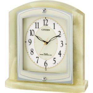 シチズン (CITIZEN) パルラフィーネR400 オニックス枠 電波置時計  8RY400-005|yosii-bungu