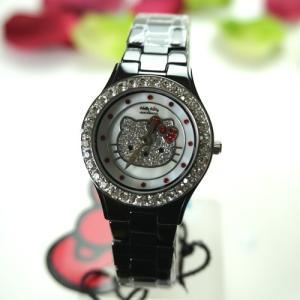ハローキティ 腕時計 ブラック セラミック   HelloKitty×AMONNLISA 腕時計 ALHK2015BKCM-CB|yosii-bungu
