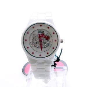 ハローキティ 腕時計 ホワイトセラミック   HelloKitty×AMONNLISA (限定品) ALHK2015CM ホワイト|yosii-bungu