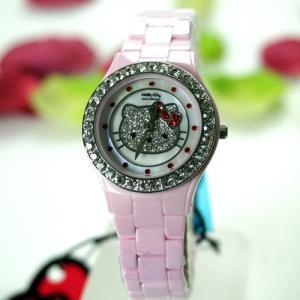 ハローキティ 腕時計 ピンク セラミック   HelloKitty×AMONNLISA 腕時計 ALHK2015PKCM-CB|yosii-bungu