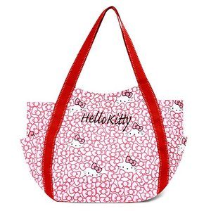 AMONNLISA(アモンリザ) × Hello Kitty(ハローキティ)  トートバッグ 005 リボン・ハローキティ  全22種|yosii-bungu
