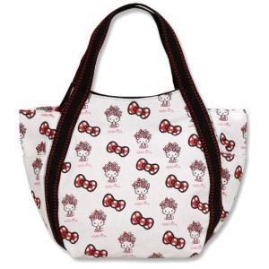 AMONNLISA(アモンリザ) × Hello Kitty(ハローキティ)  トートバッグ 013 盛りハローキティホワイト PMサイズ 全20種|yosii-bungu