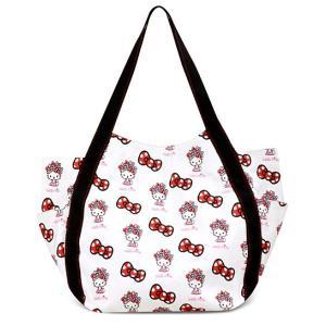 AMONNLISA(アモンリザ) × Hello Kitty(ハローキティ)  トートバッグ 013 盛りハローキティホワイト  全22種|yosii-bungu