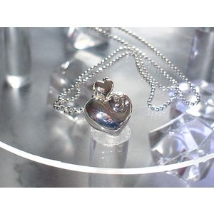ANGEL love HEART シルバーハートネックレス 携帯ストラップ金具付き|yosii-bungu