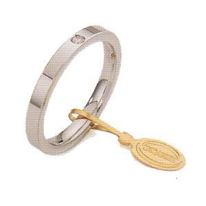 ウノアエレ マリッジリング  K18ホワイトゴールド 結婚リング  ダイヤ0.03ct cerchi di luce02 |yosii-bungu
