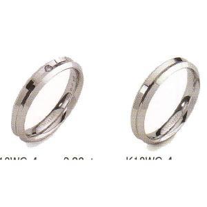 ウノアエレ マリッジリング ペアリング  結婚リング  K18WG  (レフェディ) ダイヤ0.02ct |yosii-bungu