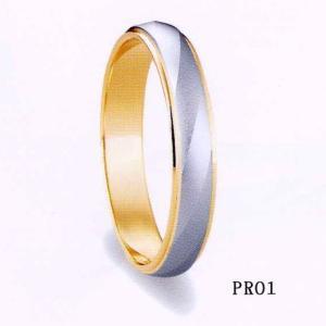 et toi (エトワ) マリッジ  K18ゴールド/Pt900(プラチナ)  【マリッジ リング 結婚指輪 1号〜21号】 PR01  (送料無料) yosii-bungu