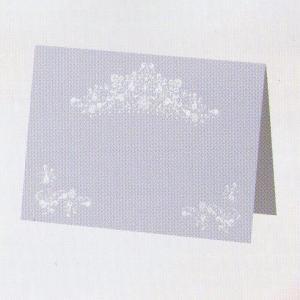 [取寄せ:入荷までに1週間〜10日ほどかかります] Hallmark Wedding Collection 〜ウェディングコレクション〜 席札セット ホワイトティアラ yosii-bungu