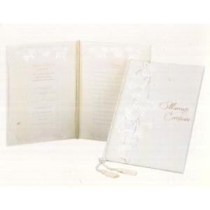 [取寄せ:入荷までに1週間〜10日ほどかかります] Hallmark ウェディングコレクション 結婚証明書 ローズ yosii-bungu