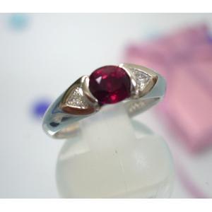 ルビー リング[指輪] ダイヤモンド (プラチナ900)|yosii-bungu