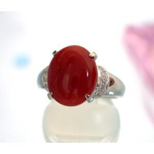サンゴ リング[指輪] (PT900) |yosii-bungu