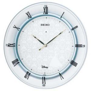 (今ならポイント最大37倍!)SEIKO CLOCK セイコー FS503W   掛け時計 ホワイト ブルー 電波クロック Disney ディズニー シンデレラ|yosii-bungu