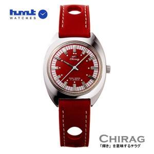 HMT 腕時計 CHIRAG   チラグ  レッド H.CH.35.RE.L 【正規品】手巻き|yosii-bungu