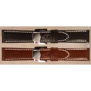 製造中止  さとり 【SATOLI】 松坂牛で作った腕時計レザーバンド(ベルト) 22mm ハンドステッチ yosii-bungu