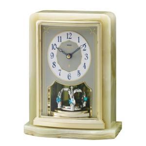 セイコー エムブレム 天然オニキス枠置時計 Authentic HW465G|yosii-bungu