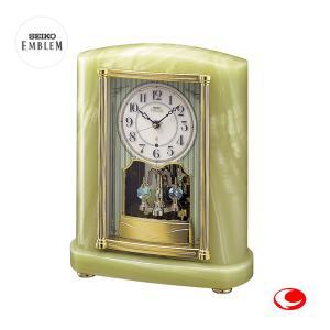 セイコー エムブレム 天然オニキス枠置時計 Authentic HW521M|yosii-bungu