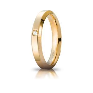 ウノアエレ K18 マリッジリング 結婚リング HYDRA01    ダイヤ0.03ct |yosii-bungu