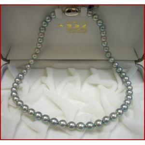 (今ならポイント最大41倍!)アコヤ 黒真珠 ネックレス  葬祭にも欠かせないアイテムです!!7.5mm〜8mm|yosii-bungu