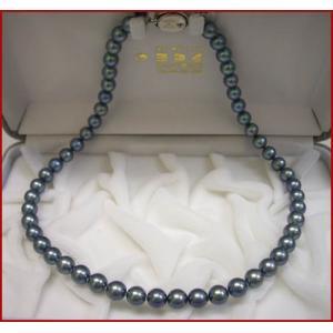 (今ならポイント最大41倍!)あこや 黒真珠 ネックレス 7.5mm〜8mm|yosii-bungu